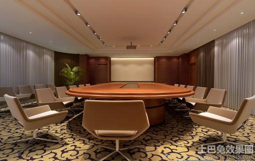 多功能会议室背景墙效果图
