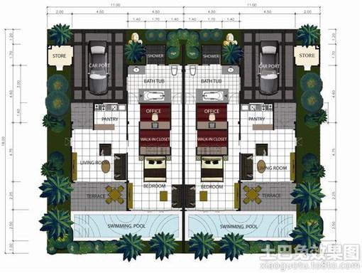 酒店套房设计平面图 酒店厨房平面图 酒店套房平面图