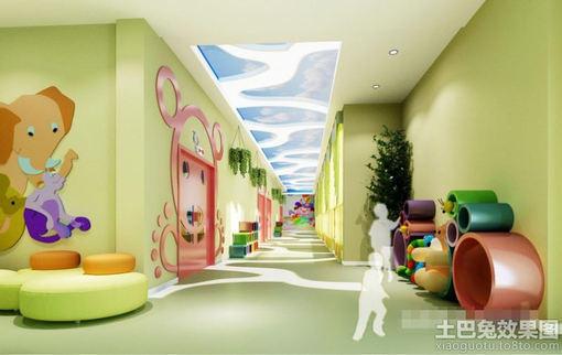幼儿园走廊墙面布置图片