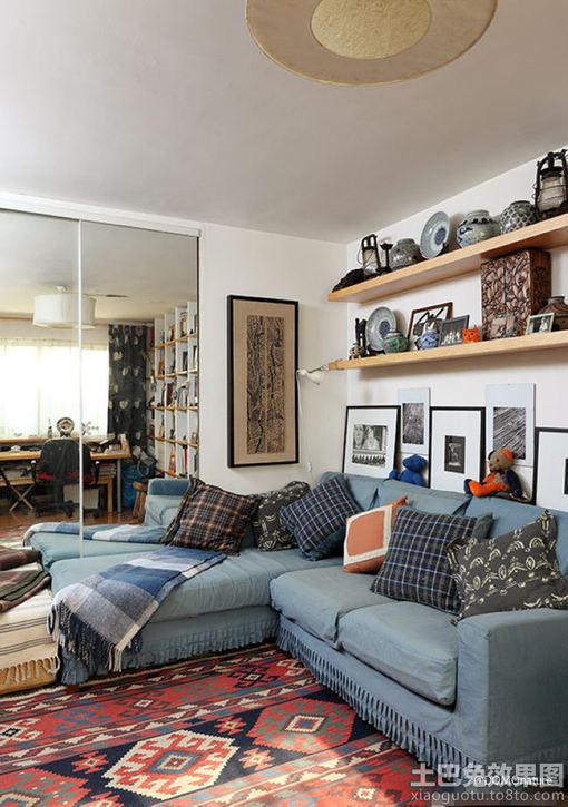 小户型客厅沙发摆放效果图欣赏 图片_hao123网址导航