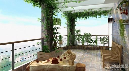 顶楼露天阳台设计 图片
