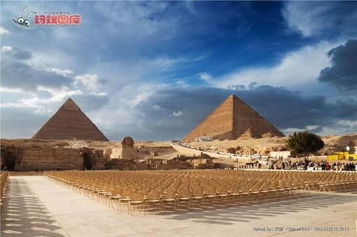 胡夫金字塔风光图片素材