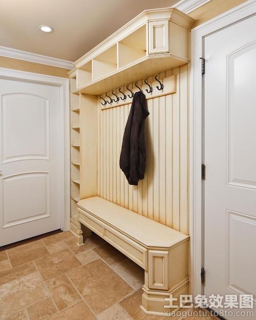 欧式玄关实木衣帽柜装饰效果图