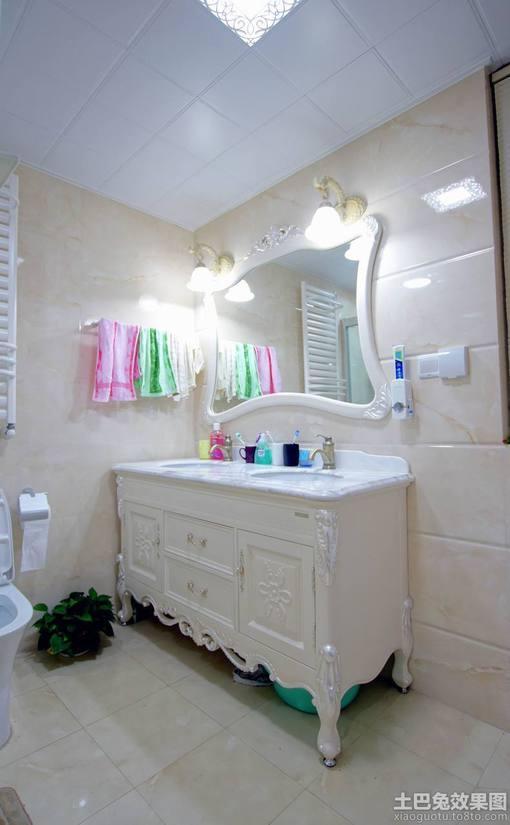 欧式卫生间洗手台装修效果图欣赏