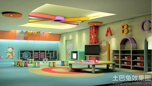 大面积幼儿园教室装修图片