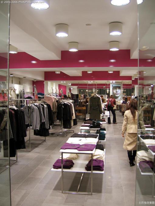 外贸服装店装修风格 图片