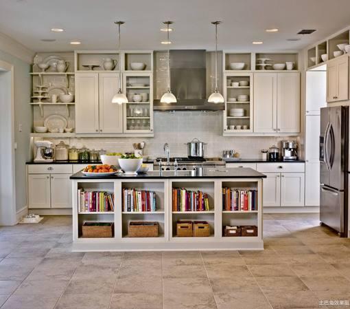 i型开放式厨房效果图