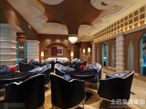 欧式风格咖啡厅沙发效果图