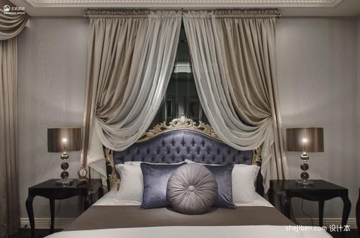 最新欧式卧室窗帘装修效果图大全2013图片
