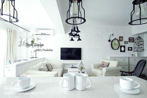 北欧风格客厅电视机背景墙设计效果图