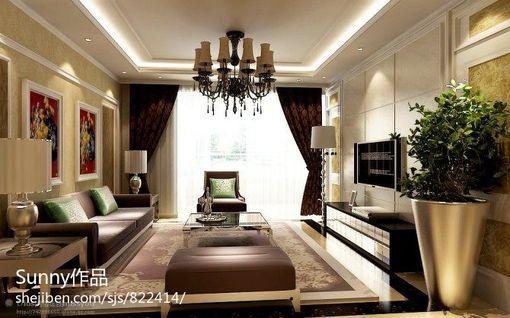 客厅家具摆放装饰效果图大全2013图片