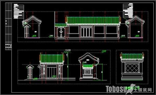 实用四合院设计图纸赏析—土拨鼠装饰设计门户
