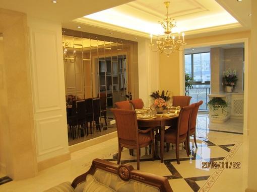欧式风格120平米房子餐厅装修效果图