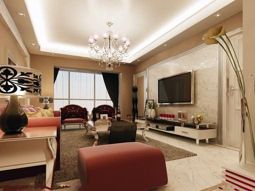 欧式家装客厅背景墙效果图