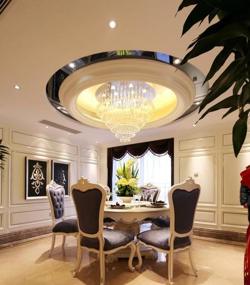 圆形欧式餐厅吊顶装修效果图