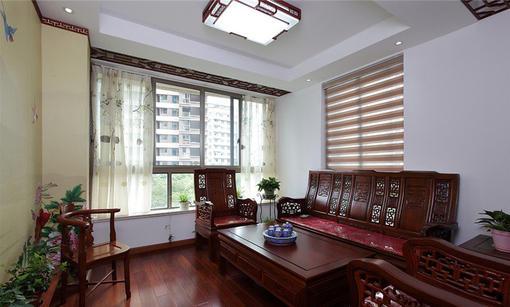 中式風格小客廳裝修效果圖2014