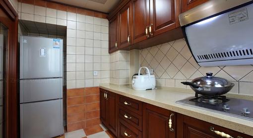 美式风格厨房 实木橱柜 装修 效果 图欣赏 图片 h 美式风