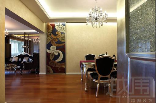 欧式新古典餐厅墙画图片大全
