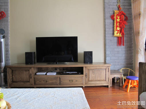 中式电视柜背景墙装修效果图大全图片