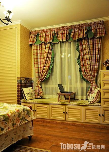各种三室二厅二卫田园卧室小户型飘窗装修效果图案例欣赏
