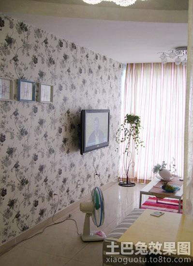 田园风格电视背景墙壁纸图片