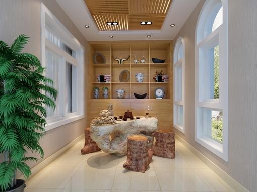 现代复式茶室装修效果图