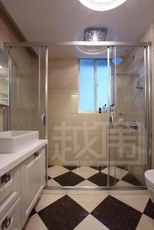 欧式新古典风格卫生间淋浴房隔断效果图