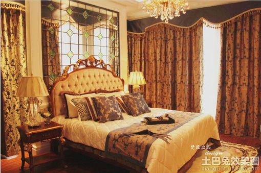 巴洛克风格卧室装修效果图欣赏