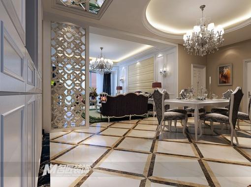 欧式豪华餐厅吊顶装修效果图大全2013图片