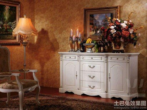 客厅欧式装饰柜效果图