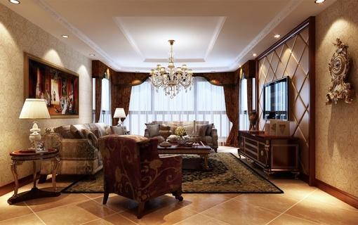古典欧式客厅装修图片欣赏