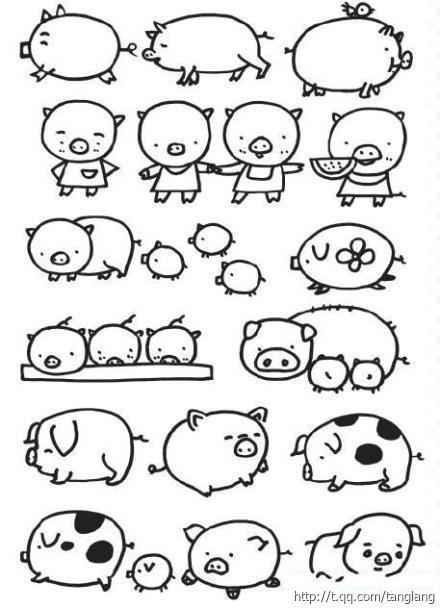 猪的简笔画-简笔画动物_狗的简笔画图片大全_儿童画画