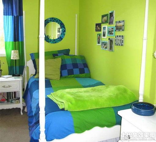 绿色家居卧室墙面颜色效果图