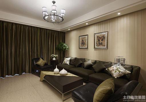 现代风格客厅皮沙发图片大全