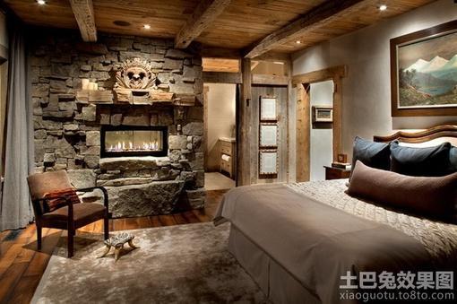 复古风格装修卧室效果图