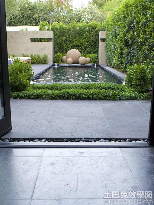 别墅庭院游泳池景观效果图