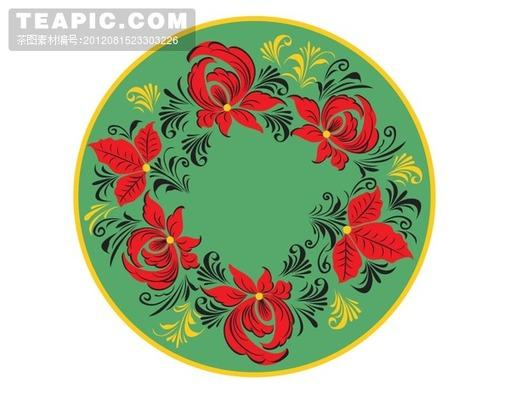 古典圆形花纹#古典##圆形##花纹##系列##花朵##枝蔓