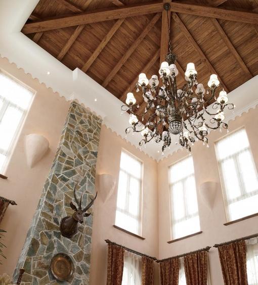 别墅客厅天花吊顶效果图