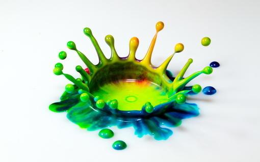 色彩飞溅艺术创意电脑壁纸