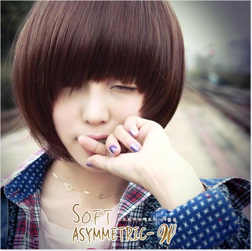瓜子脸短发发型图片/韩国娃娃头女生短发/斜刘海bobo
