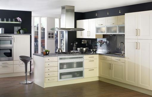 厨房# 欧式半开放式厨房装修效果图大全2013图片