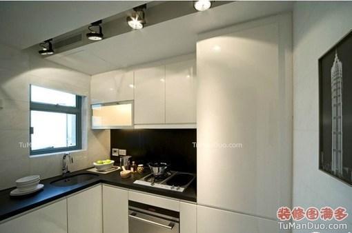 [极简风时尚小户现代-欧式-小户型-厨房-实景图-橱柜