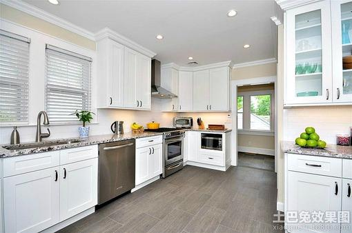 简欧式开放式厨房装修效果图欣赏
