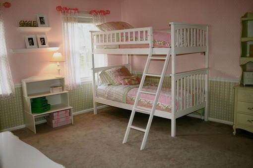 双胞胎儿童房上下铺装修效果图片