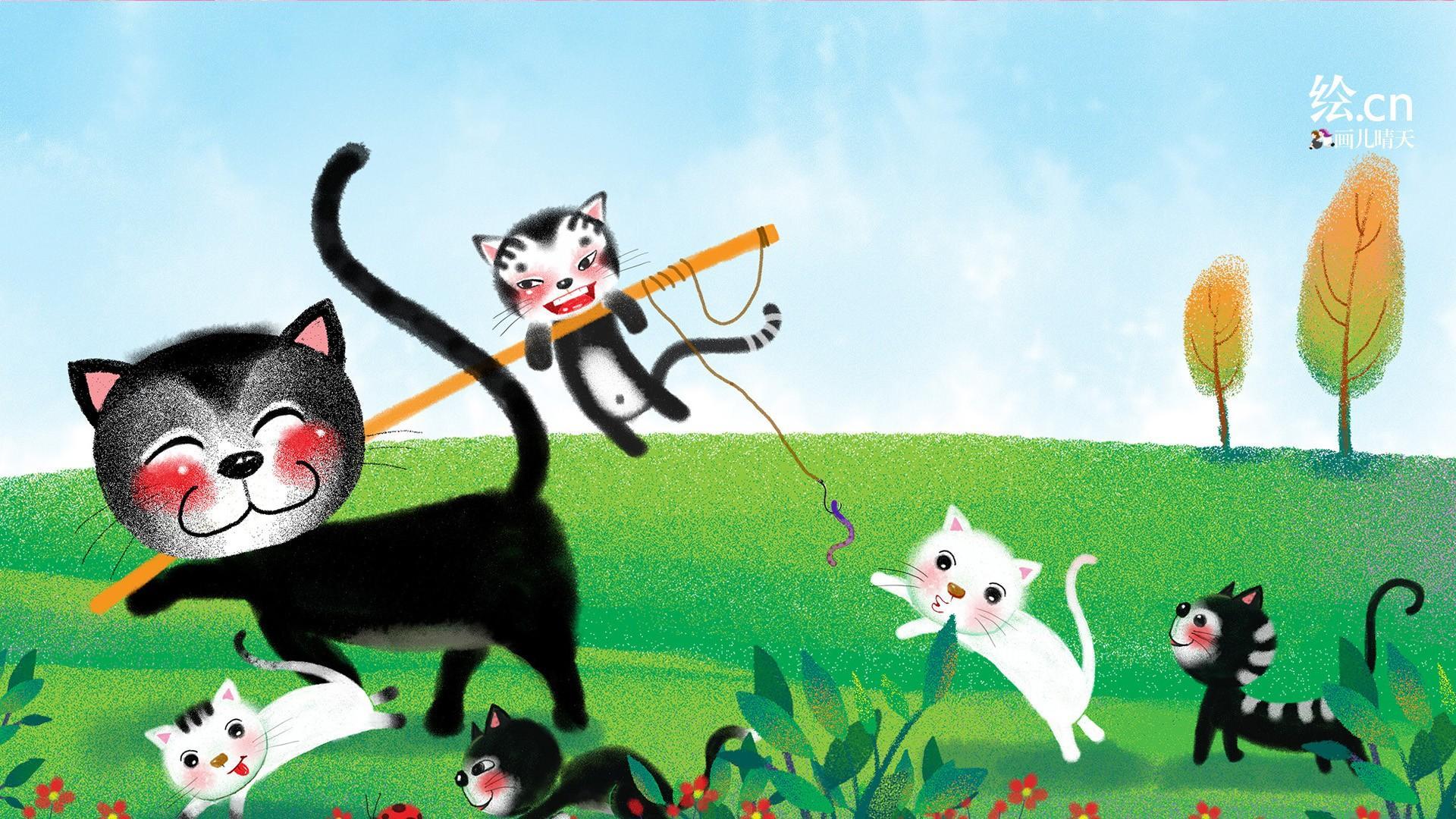 首页 图片 生活  1/9 童趣绘卡通设计桌面壁纸,可爱的动物绘画,有可爱