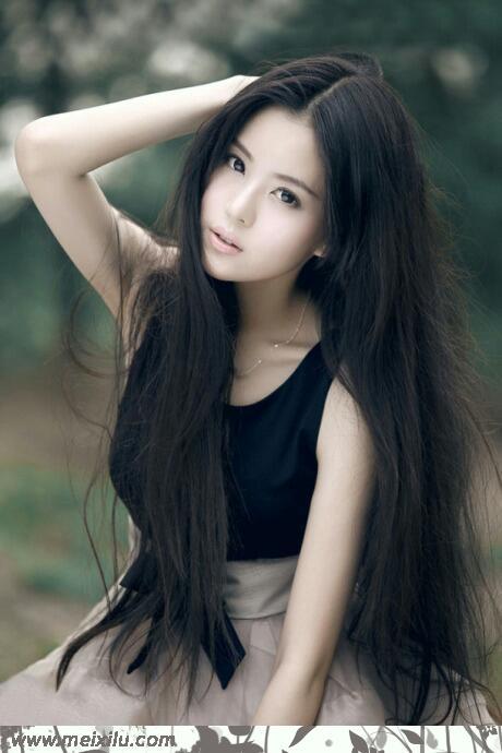 小清新美女绿色写真
