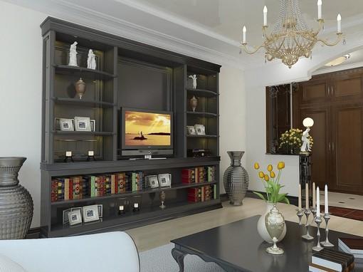 欧式电视柜背景墙设计