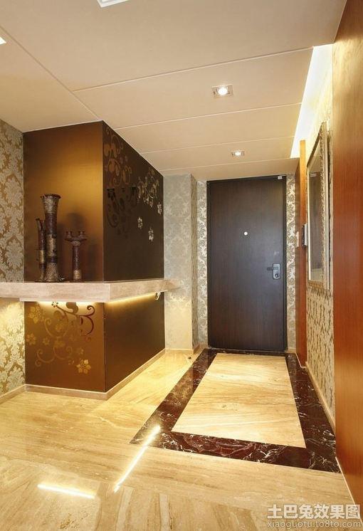 欧式别墅玄关地板砖装修效果