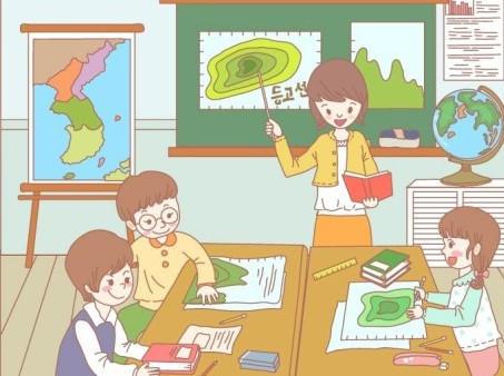老师上课卡通图片