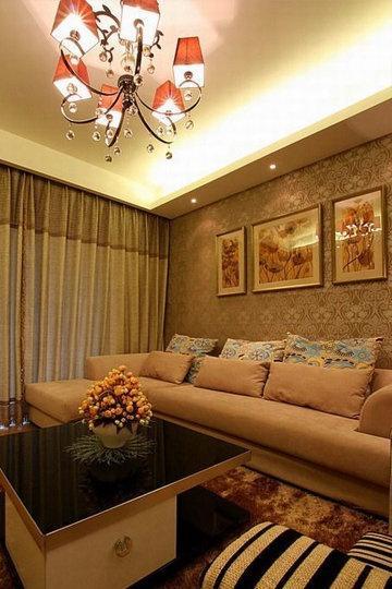 现代客厅沙发背景墙壁纸效果图 高清图片